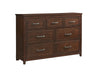 La Jolla Dresser 7 Drawer Coffee Walnut Dresser - KTL Furniture