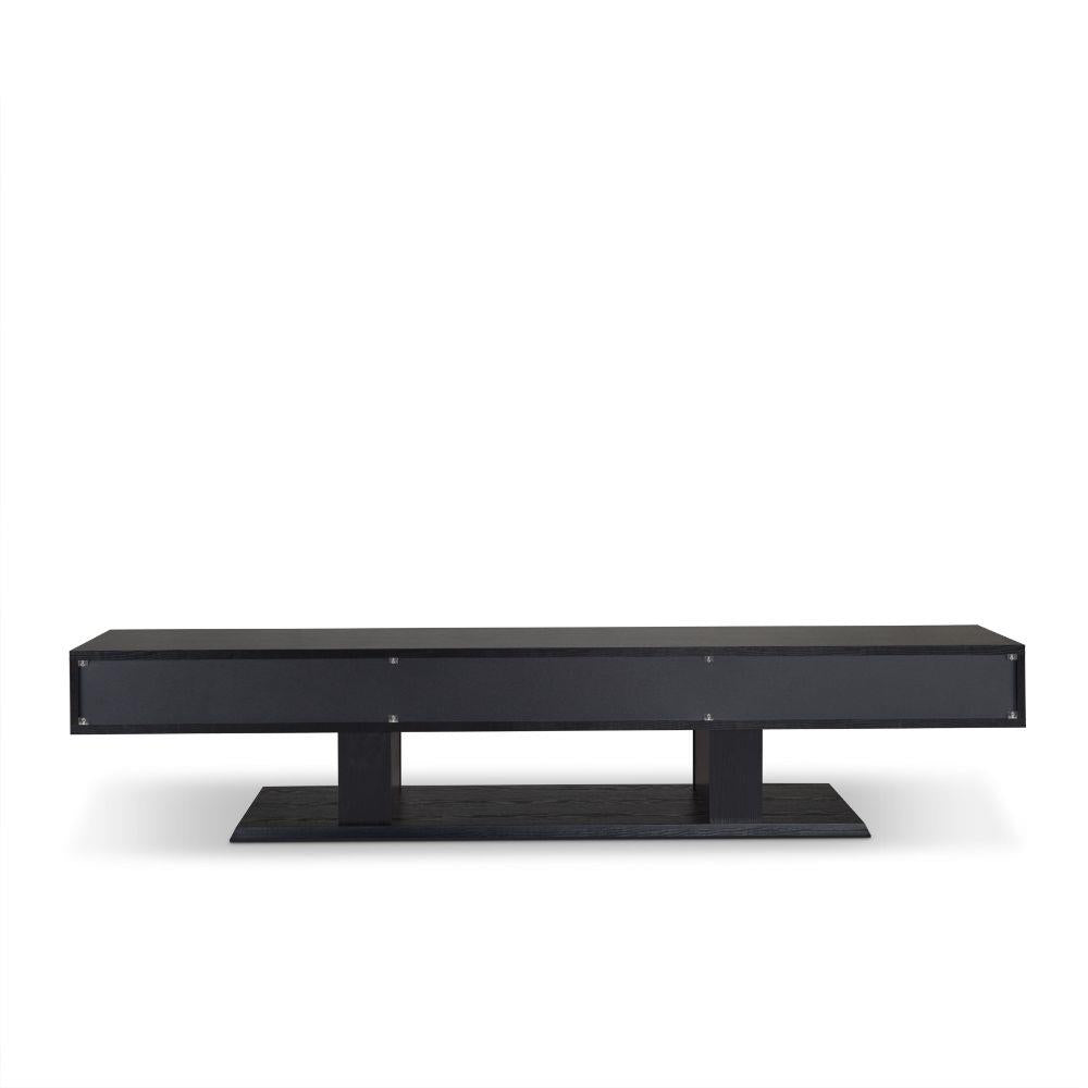 Follian Black TV Stand