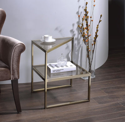 Trivia Antique Gold End Table / Side Table - KTL Furniture