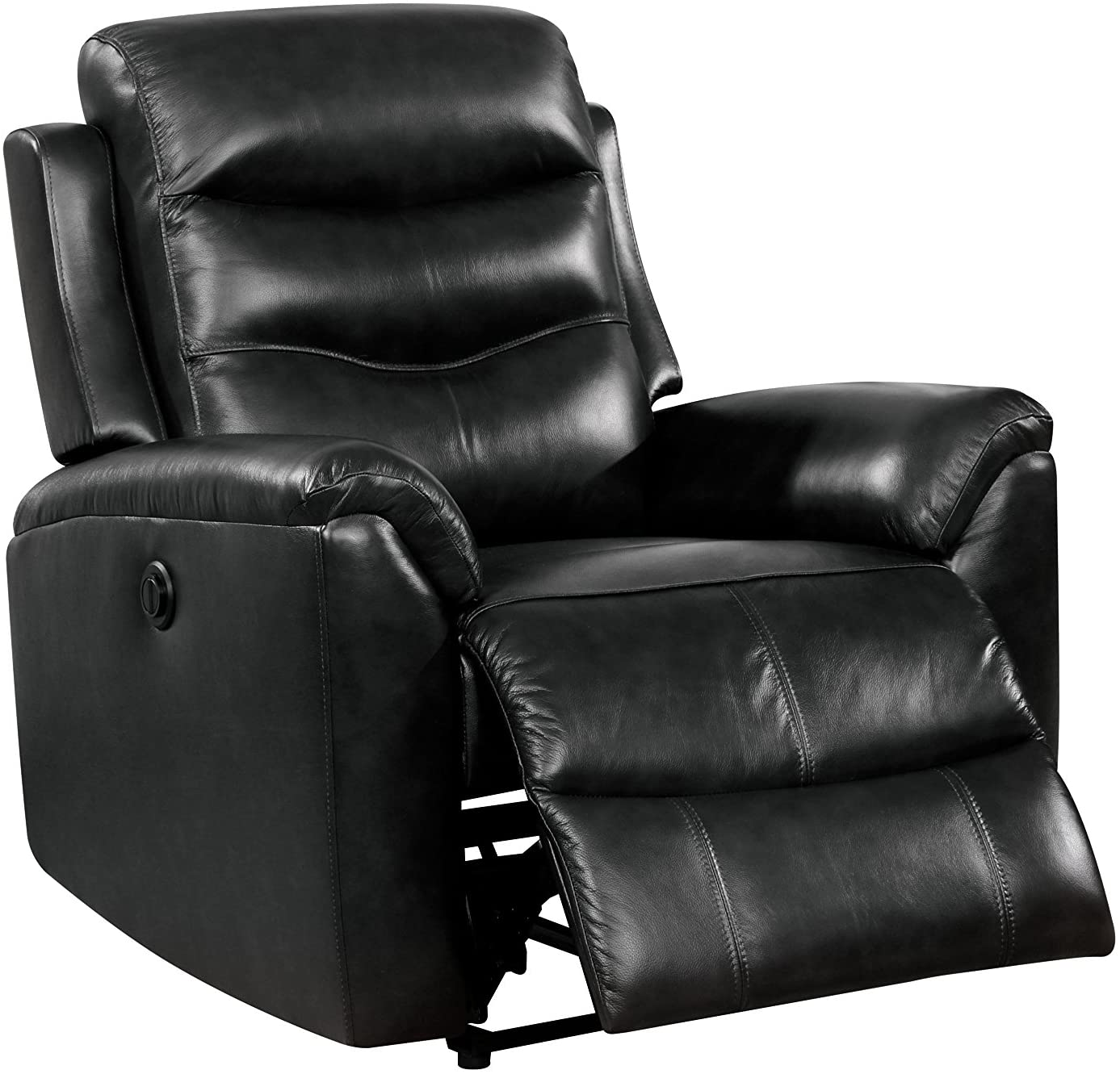 Lena Black Leather Recliner