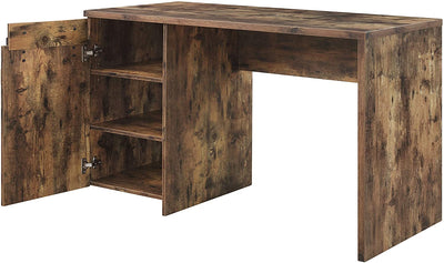 Rustic Oak Office Desk - KTL Furniture