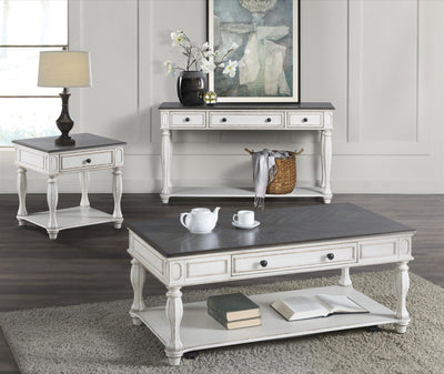 Grove Hill White and Gray Coffee Table - KTL Furniture