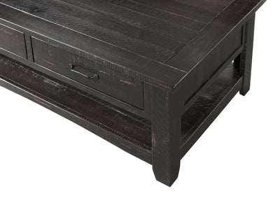 Rustic Occasional Coffee Table - Black & Honey Tabacco - KTL Furniture