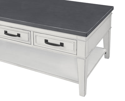 Del Mar Occasional Coffee Table - White & Grey - KTL Furniture