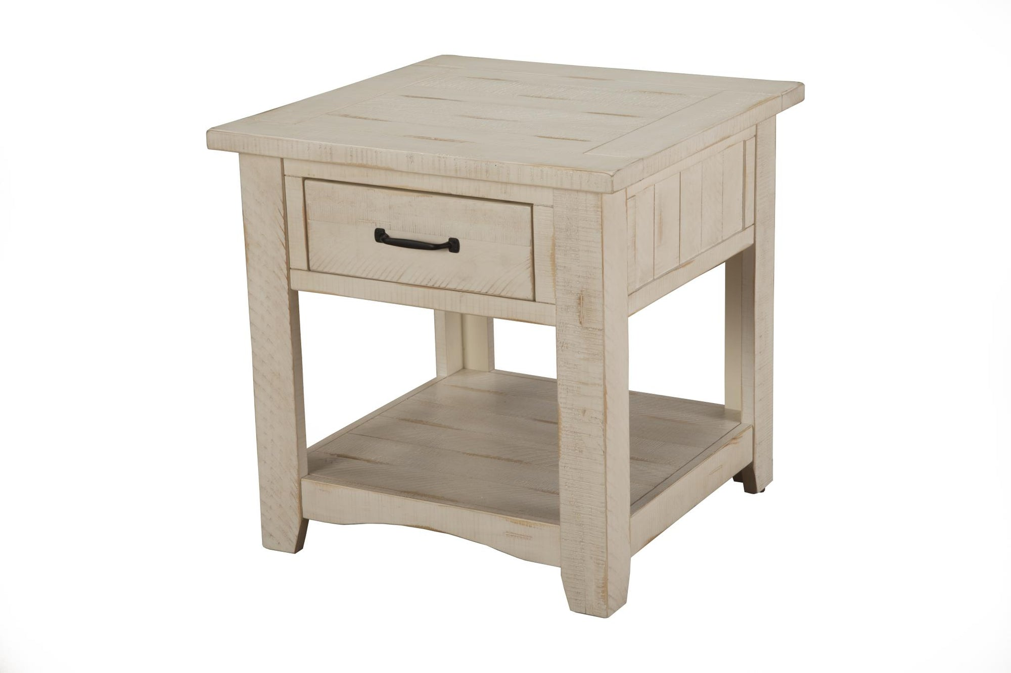 Rustic Occasional Nightstand/End table  - Antique white
