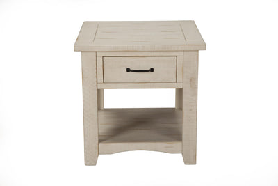 Rustic Occasional Nightstand/End table  - Antique white - KTL Furniture