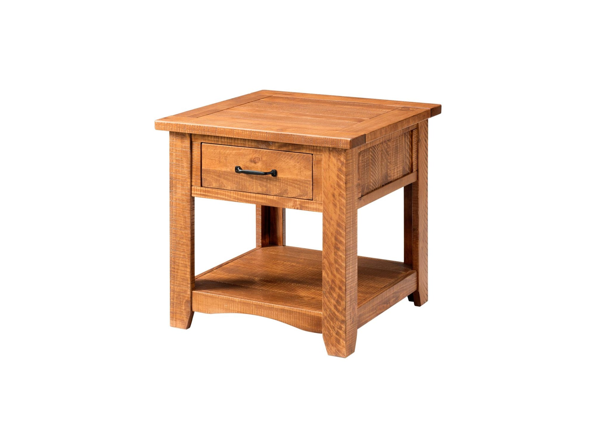 Rustic Occasional Nightstand/End Table - Honey tabacco