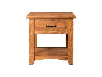 Rustic Occasional Nightstand/End Table - Honey tabacco - KTL Furniture
