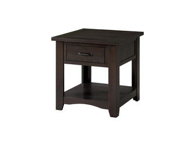 Rustic Occasional Nightstand/End table - Espresso - KTL Furniture