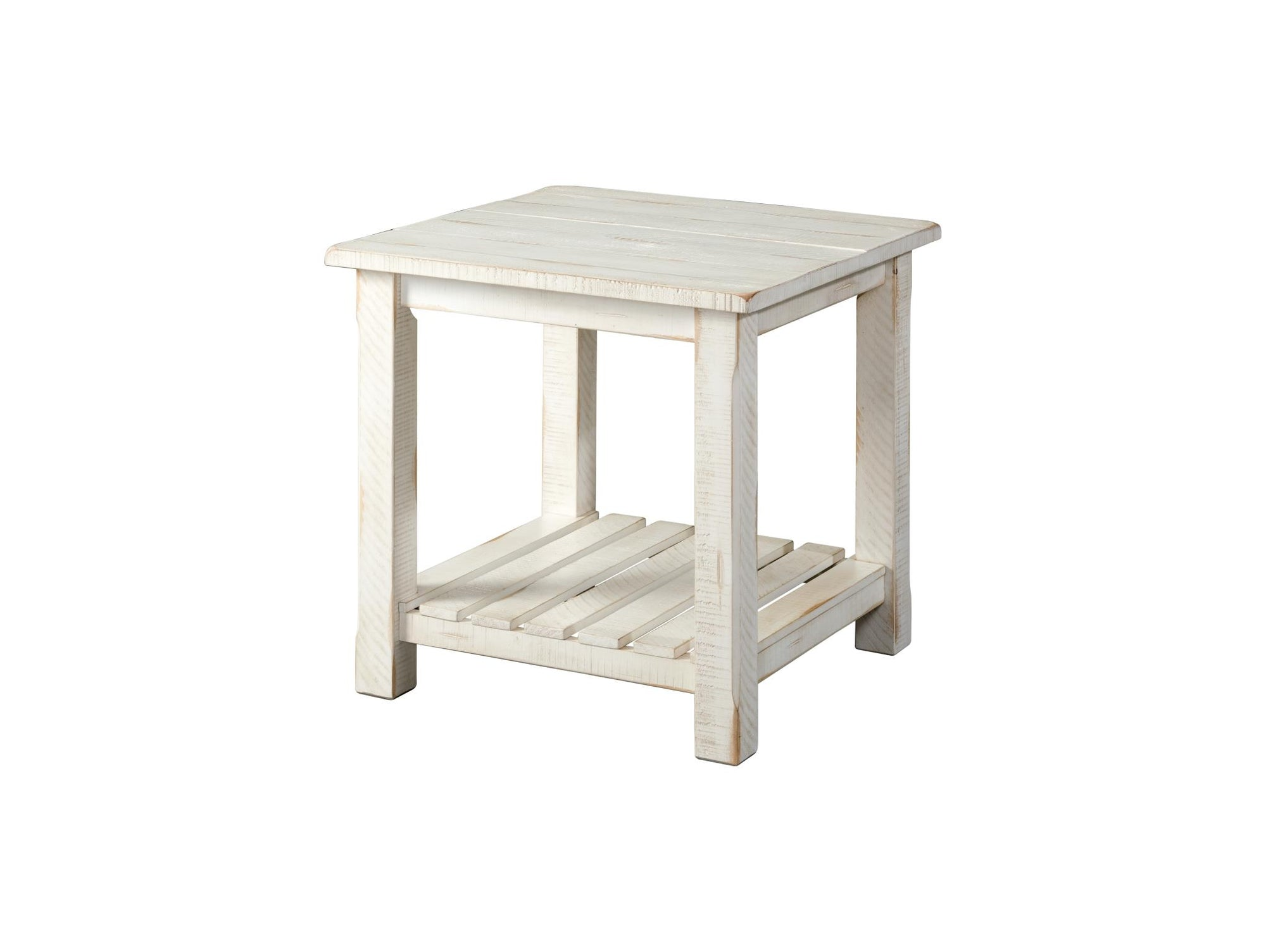 Barn Door Occasional End table - Antique White