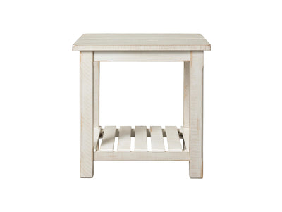 Barn Door Occasional End table - Antique White - KTL Furniture