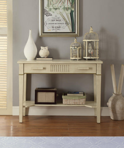 Rodie Antique White Console Table - KTL Furniture