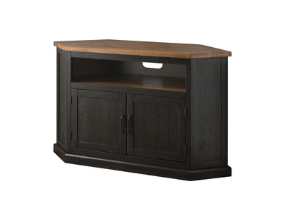 Rustic Corner TV Stand / Media Corner - KTL Furniture