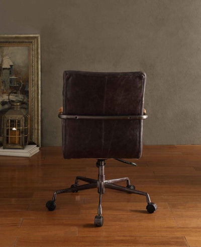 Harith Top Grain Leather Executive Office Chair - KTL Furniture
