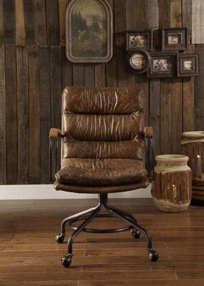Harith Vintage Executive Office Chair (No Lift) - KTL Furniture