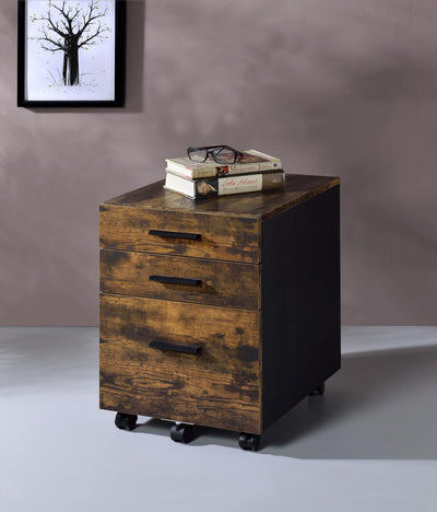 Wheels 3 Drawer File Cabinet - KTL Furniture