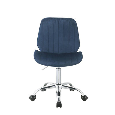 Office Chair Blue Armless - KTL Furniture