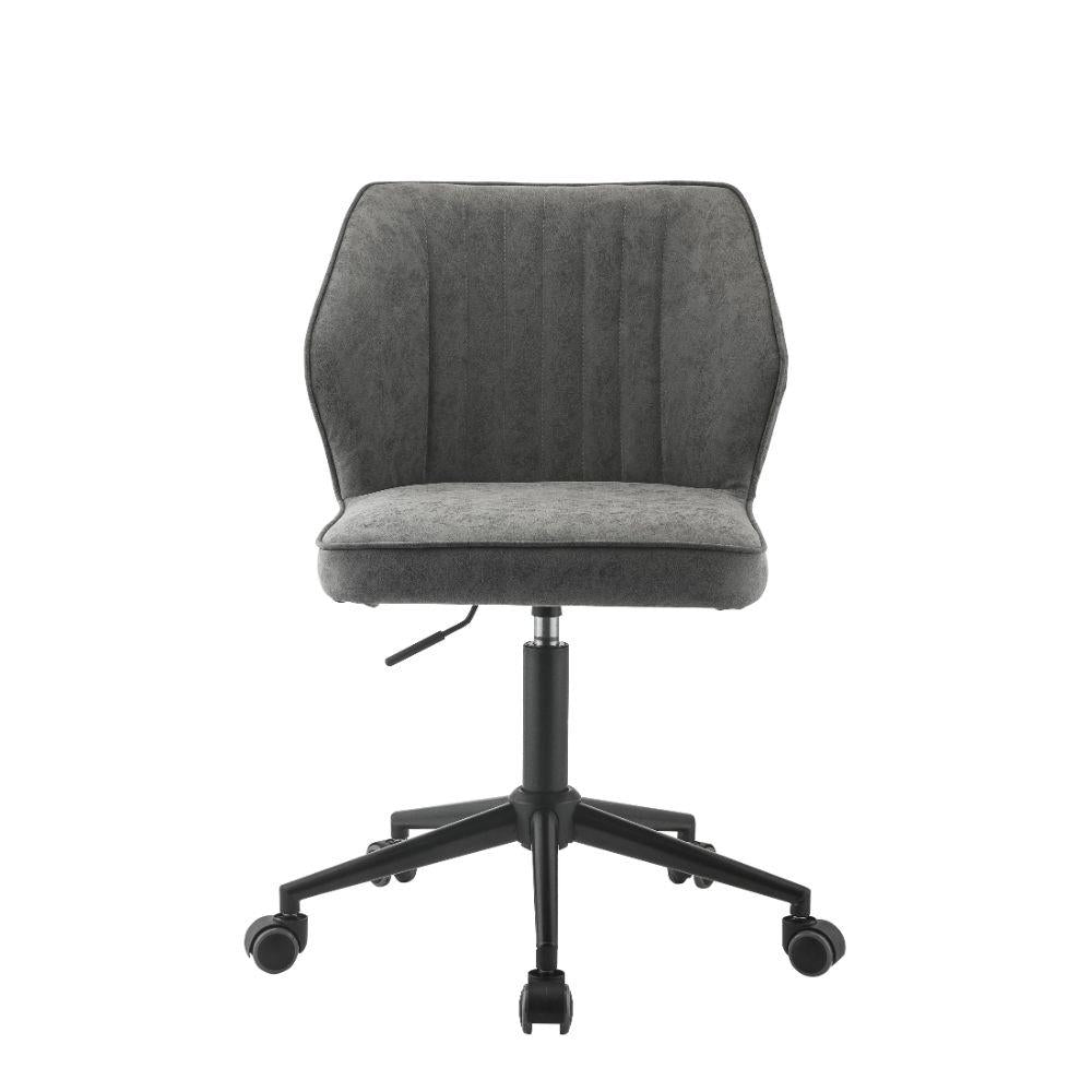 Pakuna Vintage Gray Armless Office Chair