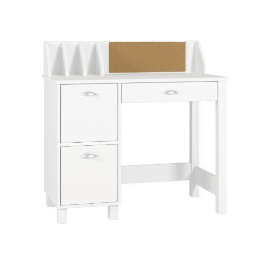 Mesa The Billar White 3 Drawer Writing Desk