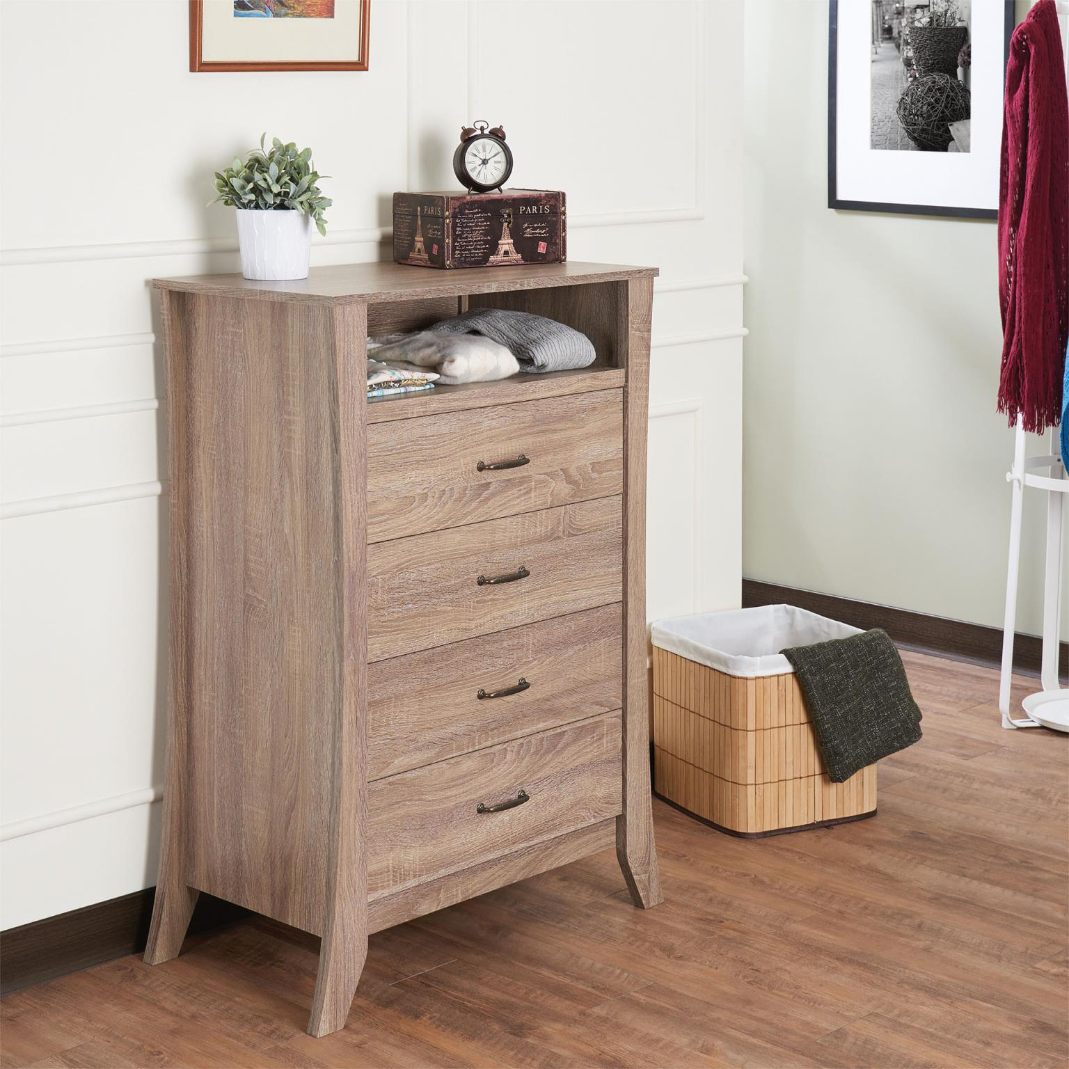 Scott Rustic Natural 5 Drawer Chest