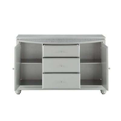 Maverick Platinum Buffet Table Server - KTL Furniture
