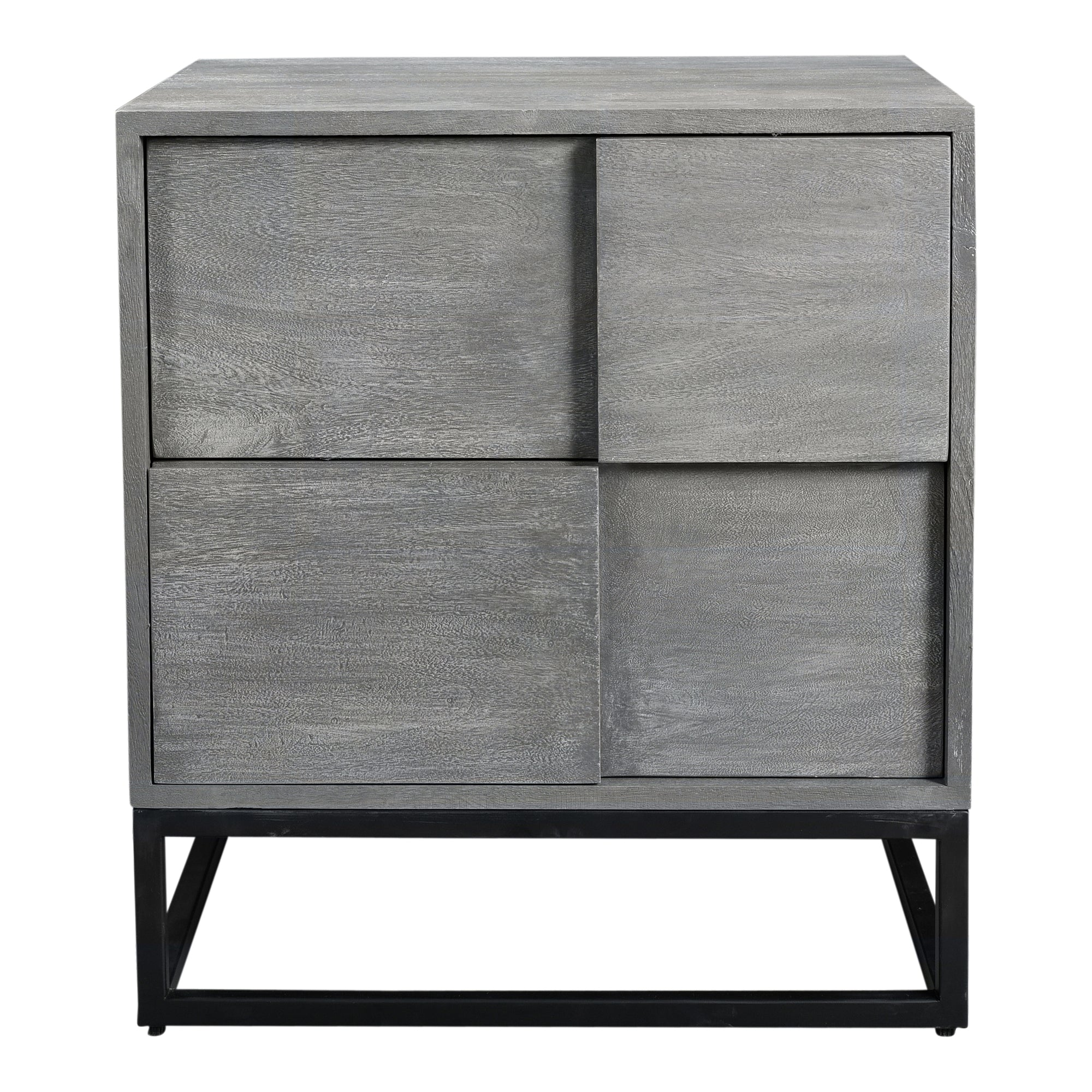Felix Grey 2 Drawer Nightstand