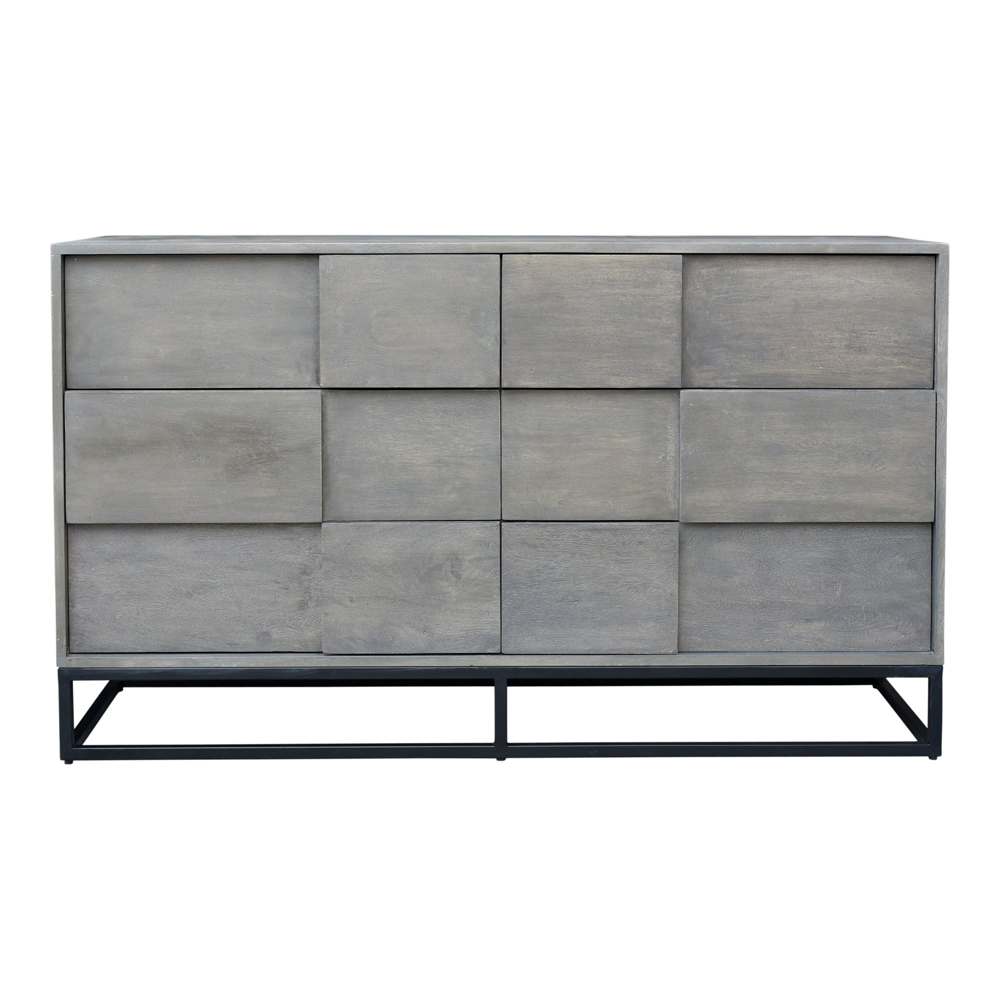 Felix Grey 6 Drawer Dresser - KTL Furniture
