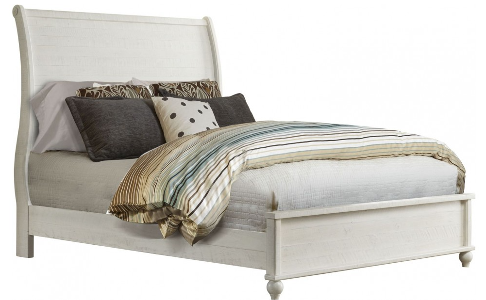 Monterey Sleigh Chaise White & Grey Bed