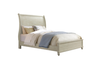 Pine Creek Sleigh-Chaise Antique White & Honey Bed - KTL Furniture