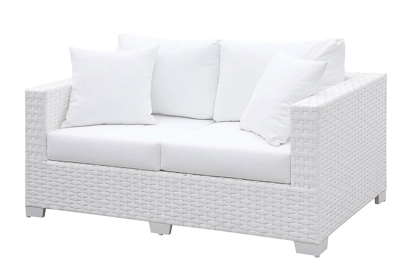Patio Love Seat w/ 2 Pillows