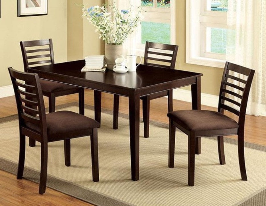 Eaton Espresso 5PC Dining Set - KTL Furniture