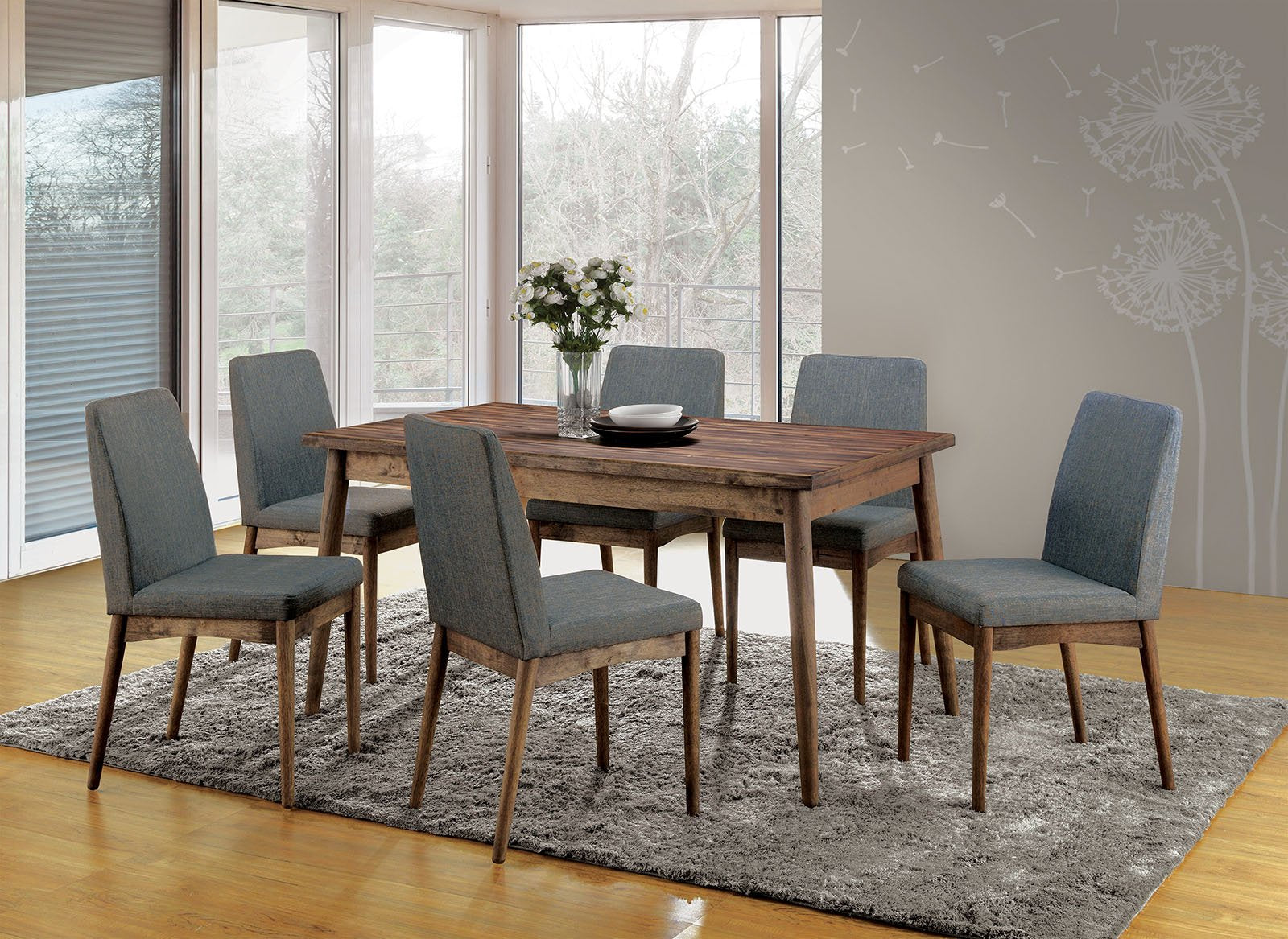 Eindride Natural Tone 7PC Dining Set - KTL Furniture