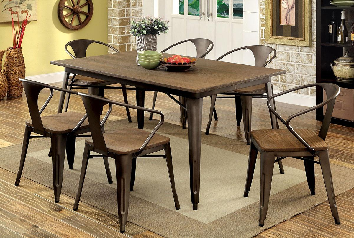 Cooper II Natural 5PC Dining Set - KTL Furniture