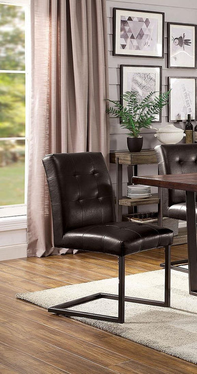 Brown Dining Chair (2/CTN) - KTL Furniture