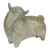 Ecomix Antique Grey Bull Sculpture - KTL Furniture