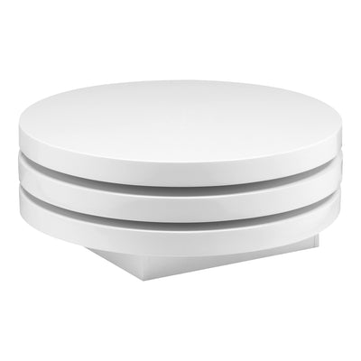 Torno White Coffee Table - KTL Furniture