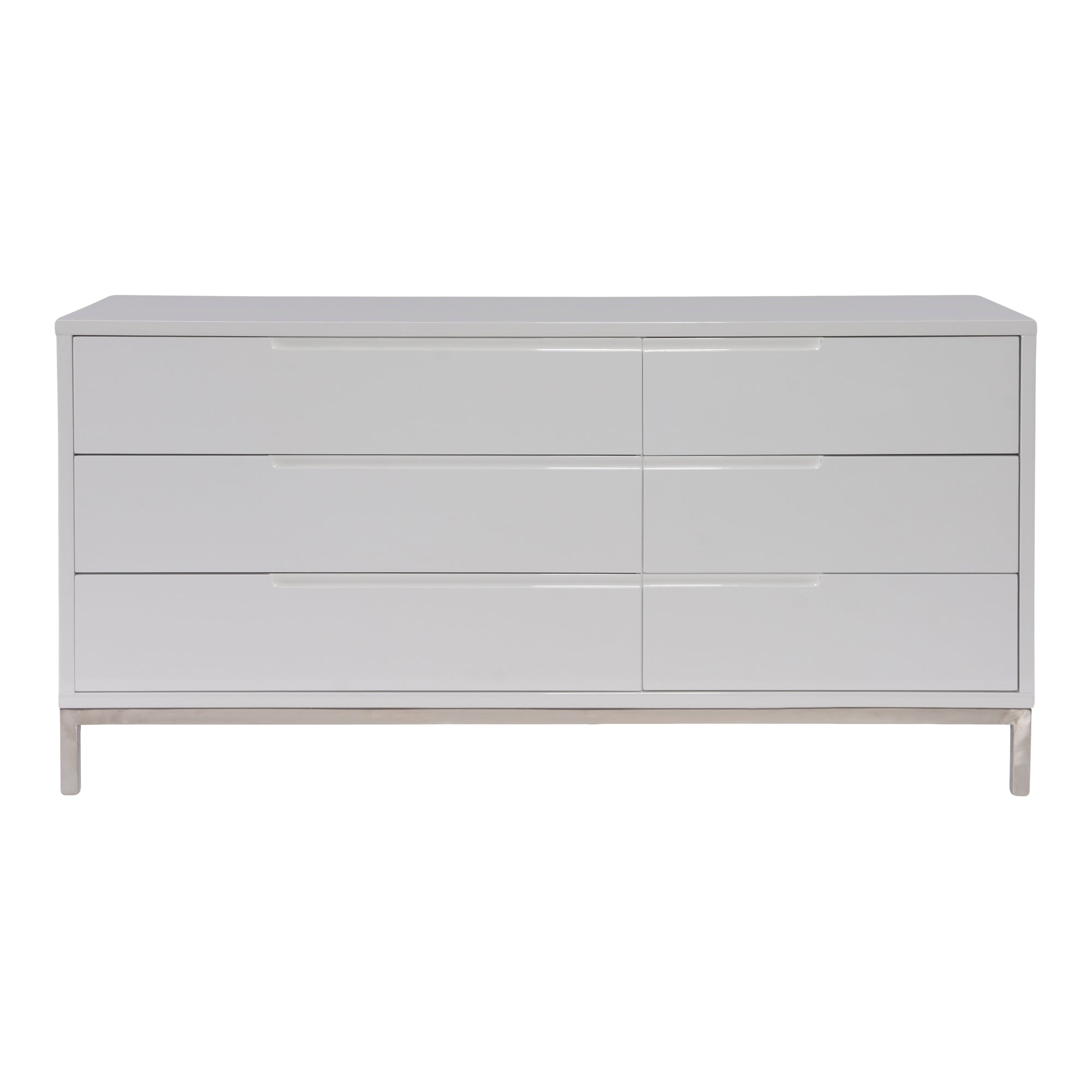 Naples White 6 Drawer Dresser