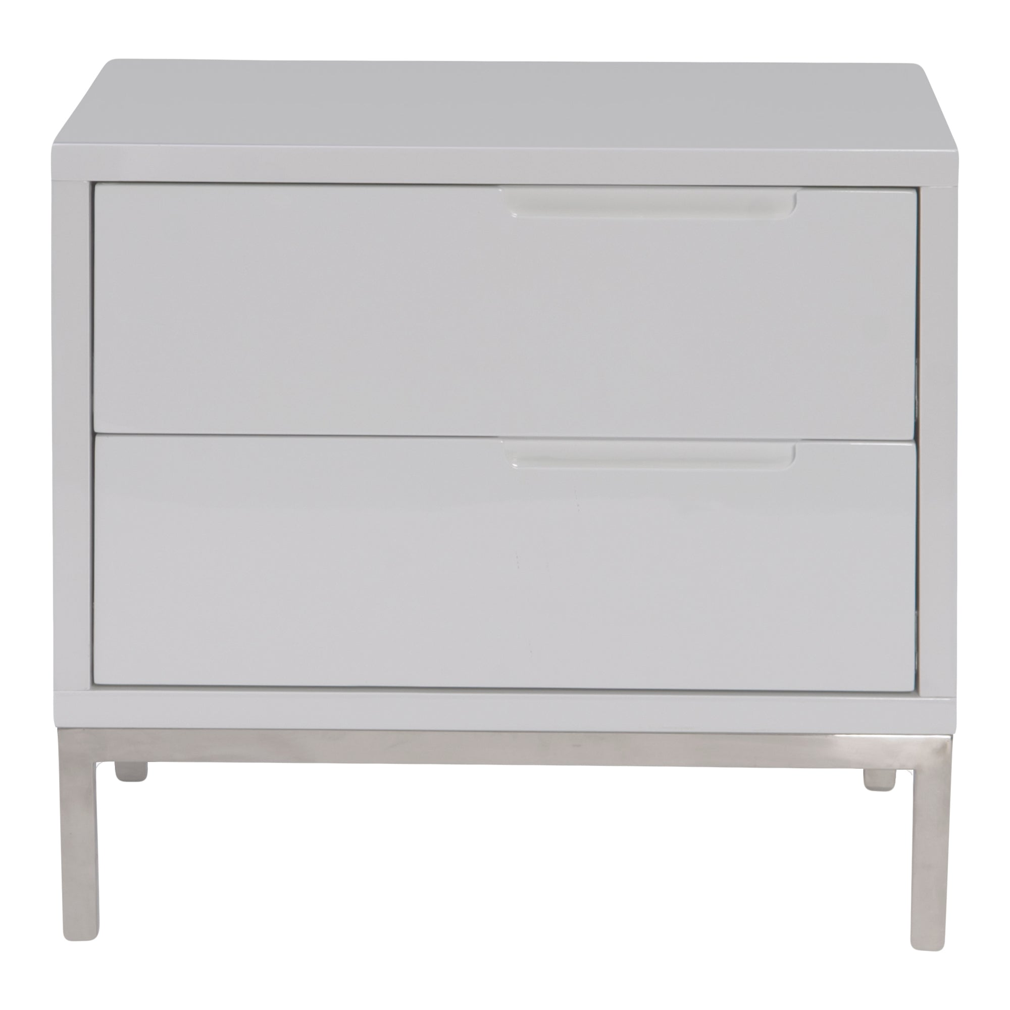 Naples White 2 Drawer Nightstand - KTL Furniture