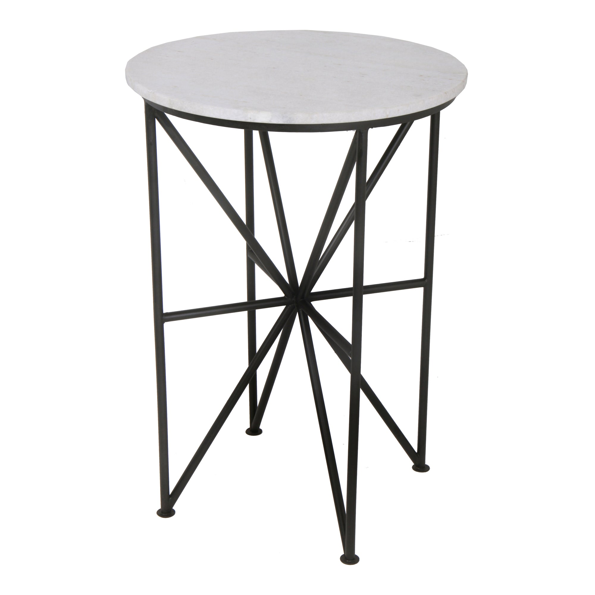 Quadrant Marble End Table / Side Table