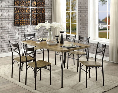 Banbury Gray/Dark Bronze 7PC Dining Set - KTL Furniture