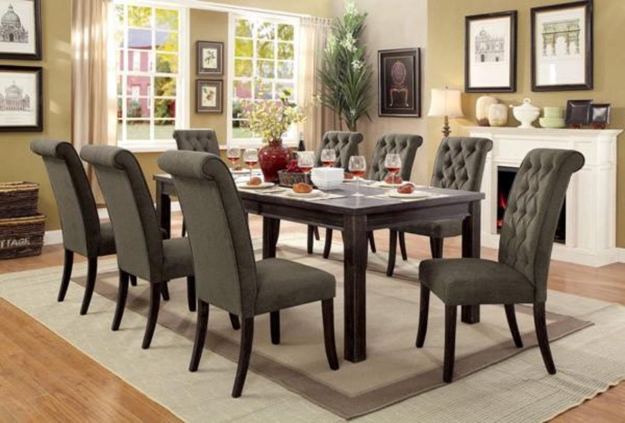 Gray 9PC Dining Sets - KTL Furniture