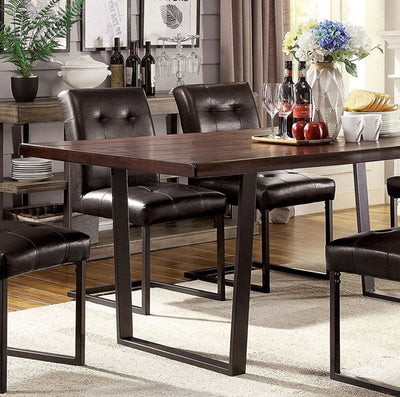 Dark Oak 7PC Dining Set - KTL Furniture