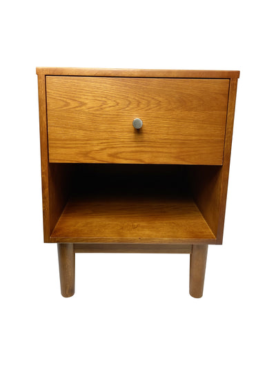 Sakura Mid- Century modern Nightstand Oak - KTL Furniture