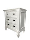 Victoria White Nightstand - KTL Furniture