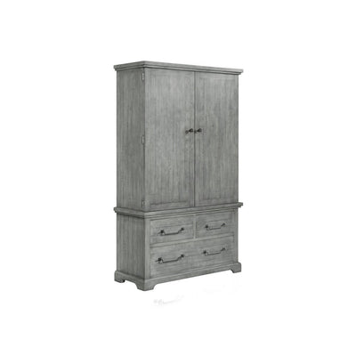 Beach House Dove Grey Armoire - KTL Furniture