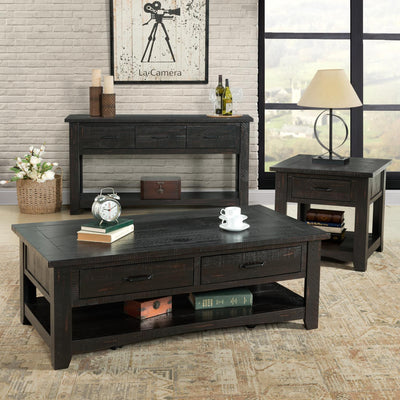 Rustic Occasional  End table - Antique Black - KTL Furniture