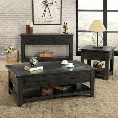 Rustic occasional Nightstand/End table - Grey - KTL Furniture