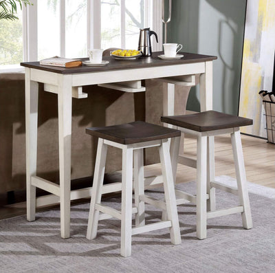 Wooden Bar Table 3 PC Set - KTL Furniture