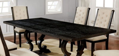Dark Walnut Dining Table - KTL Furniture