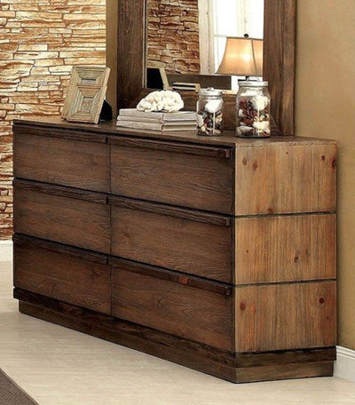 Rustic Natural Tone 5PC Bedroom Set w/ Chest - KTL Furniture